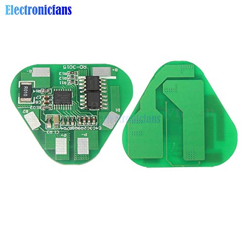 Batcus 3S 4A Protection BMS Li-ion Li-Po Cylindrical Prismatic Lithium Polymer Battery 3 Cell PCB Module Board Short Circuit Overcharge ()