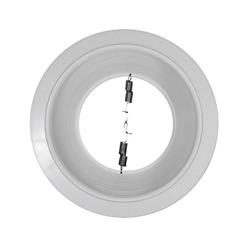 Pack of 24-6'' White Baffle Trim with White Ring for 6'' Recessed Can Lighting - Replaces BR30/PAR30/R30 by Four-Bros Lighting (Image #2)