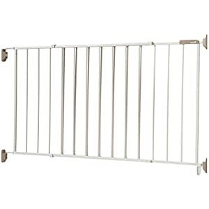 "Safety 1st Wide & Sturdy Sliding Metal Gate, Fits Spaces Between 40"" and 64"" 22"