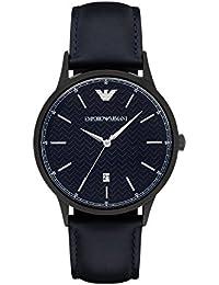 AR2479 Mens Renato Blue Leather Strap Watch