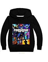 Merdbu Fortnite Hoodie Long Sleeve Hooded Crewneck Sweatshirts Girls Boys