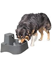PetSafe Drinkwell 7.5 Litre Dog and Cat Water Fountain, Best for Large Dog Breeds and Multiple Pet Households, Easy-to-Clean Design, Filter Included, Grey (PWW17-16735)