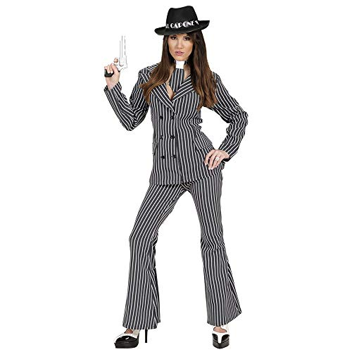 Ladies Gangster Woman Costume Large Uk 14-16 For 20s 30s Mob Capone Bugsy Fancy -