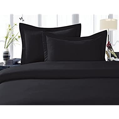 Elegant Comfort 1500 Thread Count Egyptian Quality 4-Piece Bed Sheet Sets, Deep Pockets - Luxurious Wrinkle Free & Fade Resistant , King , Black