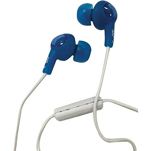 JVC HA-FR55A Gumy plus in-ear headphones microphone & remote HAFR55 Blue / watt [parallel import goods]