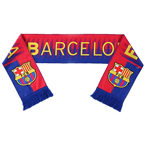 (UHBHEA Barcelona Scarf FC Double Sided Fan Knitted 2018-2019 Season Home Scarf Red/Blue)