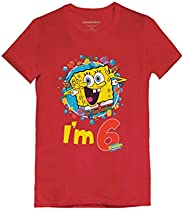 Official Spongebob - 6th Birthday I'm 6 Toddler/Kids Girls' Fitted