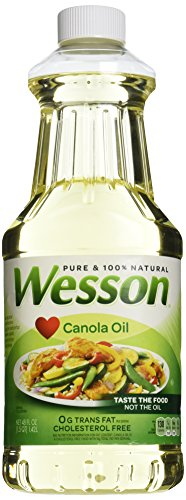 - WESSON Pure Canola Oil, 0 g Trans Fat, Cholesterol Free, 48 oz.