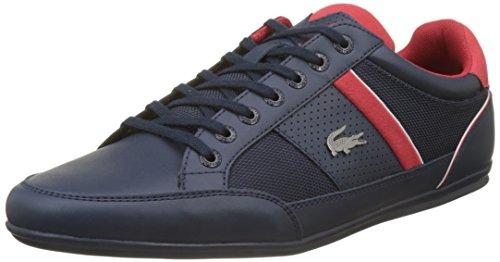 Des Hommes Lacoste 218 1 Chaussure De Came Blanc, Vert (nvy / Rouge 144)