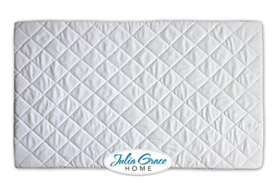 2018 Pack n Play Crib Mattress Cover by Julia Grace Home | Mini Crib Mattress Protector | Organic Ultra Soft Fabric is Waterproof, Hypoallergenic, Machine Washable | Fits All Portable and Mini Cribs