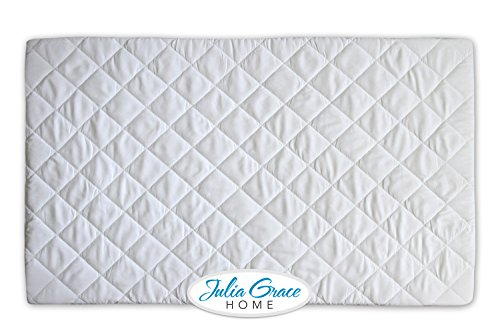 Jenny Lind Baby Cradle (Pack n Play Crib Mattress Cover by Julia Grace Home | Mini Crib Mattress Protector | Organic Ultra Soft Fabric is Waterproof, Hypoallergenic, Machine Washable | Fits All Portable and Mini Cribs)