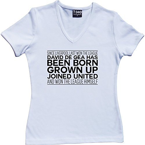 T34 - Camiseta - Mujer V-Neck White Women's T-Shirt