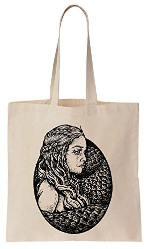 Khaleesi Art Portrait NO TEXT Sacchetto di cotone tela di canapa