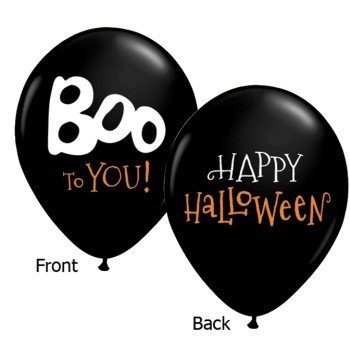 Boo To You Halloween Qualatex Latex Balloons, 11-Inch 25 Per Pack by Qualatex [並行輸入品]   B01AHFUPES