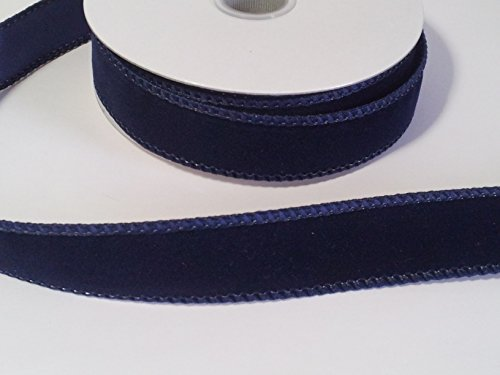 7/8 velvet ribbon in sailor blue