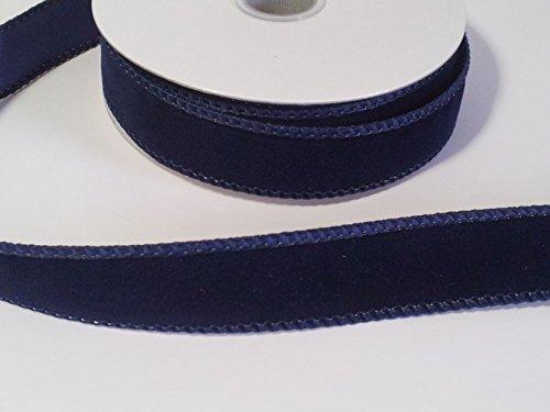7/8 velvet ribbon in sailor blue