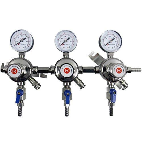 - Kegco KC LH-54S-3 Premium Pro Series Three Product Secondary Beer Regulator, Chrome