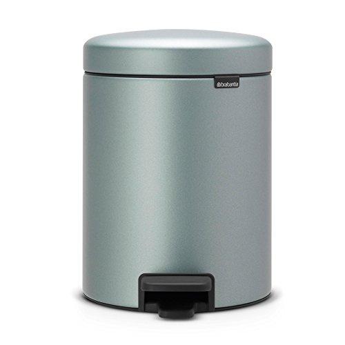 Brabantia 112942 Step Trash Can, 1.3 gallon, Metallic Mint