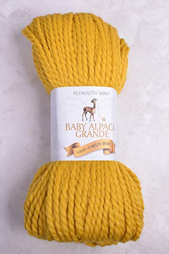 (Plymouth Baby Alpaca Grande 100 Baby Alpaca Yarn 5762 Sunflower)