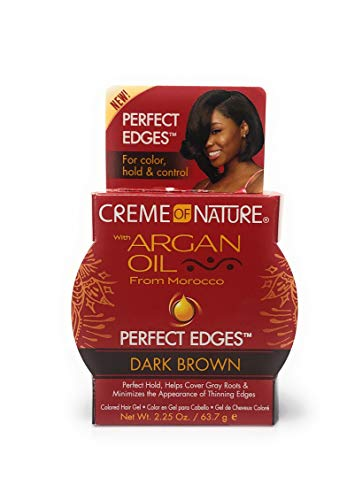 creme of nature argan oil perfect edges dark brown (Brown Edge)