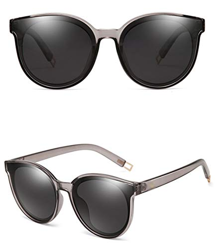 UV Retro Protección Gafas Sol Gafas última contra Marco Grande Unisex Retro De Marco Polarizada La La WJYTYJ Negro Radiación ZqEPcYwH1