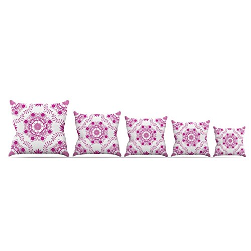 Kess InHouse Anneline Sophia ''Let's Dance Fuchsia'' Pink Floral Throw Pillow, 26 by 26'' by Kess InHouse