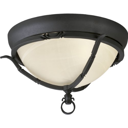 837-80 2-Light Close-To-Ceiling Fixture, Forged Black ()