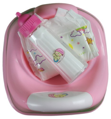 3 In 1 Potty time for baby doll Diaper, Potty & Milk bottle