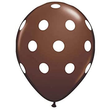 Brown And White Polka Dot Balloons