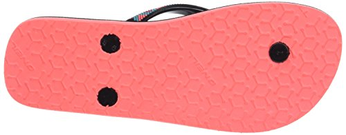 O'Neill Fw Printed Strap Flipflop - Chanclas Mujer Negro (Black Aop)