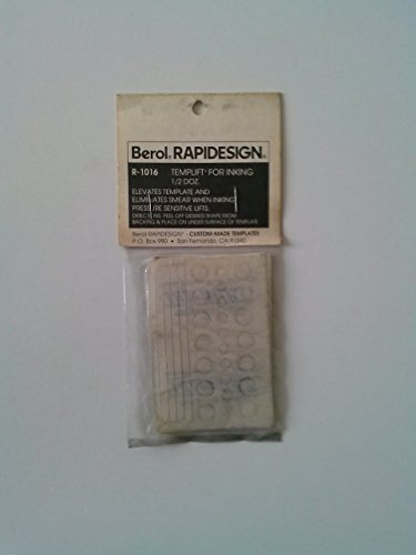 Berol RapiDesign R-1016 Technical Drawing Template Templift For Inking 1/2 Doz. by Berol