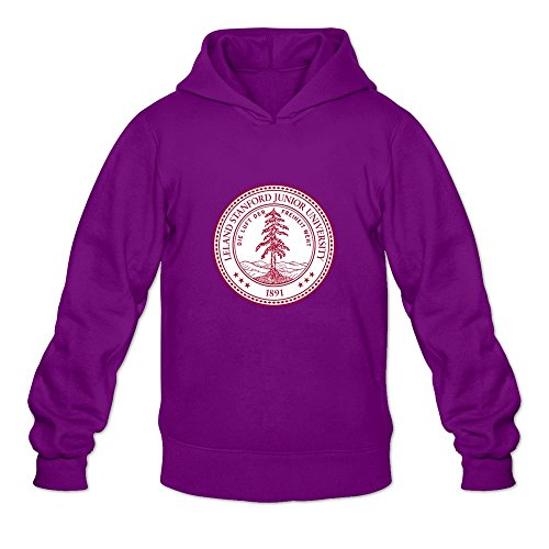 (Stanford University Seal 2003 Fashion 100% Cotton Purple Long Sleeve Hoodie For Guys Size S )