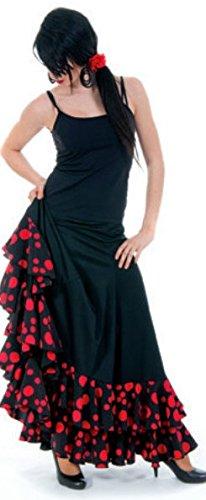 Con Puntini Nero Lusso Gonna Danza Flamenco Rossi Señorita Donna La Volani X7x8qZ4Ww