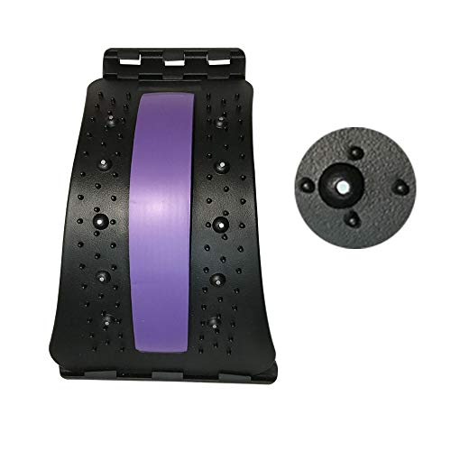 Back Stretcher for Lower Back Pain Relief Device, VITTA Lumbar Support Stretcher for Posture Corrector 3 Level Portable Professional Chiropractic Massager for Office,Home,Car Using Purple