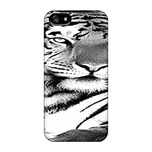 Premium Protection Tiger Cases Covers For Iphone 5/5s- Retail Packaging