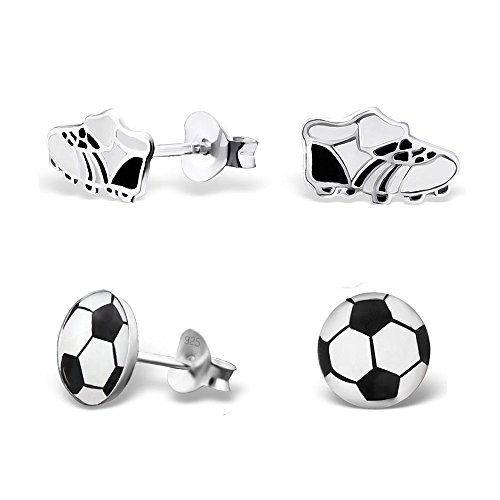 childrens-925-sterling-silver-enamel-sport-shoes-and-football-soccer-post-stud-earrings-2-pack