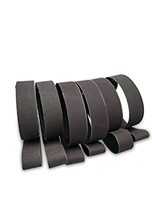 1 X 30 Inch Knife Sharpening Sanding Belt Assortments - Choose Your Grits - Made in USA by Red Label Abrasives