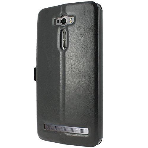 Asus Zenfone 2 Laser ZE601KL - ZE600KL Funda protectora de protección cuero [MP-ES] Cubierta de la caja S-View Folio (Vista de Windows) Para Asus Zenfone 2 Laser ZE601KL - ZE600KL Asus Zenfone 2 Laser ZE601KL - ZE600KL