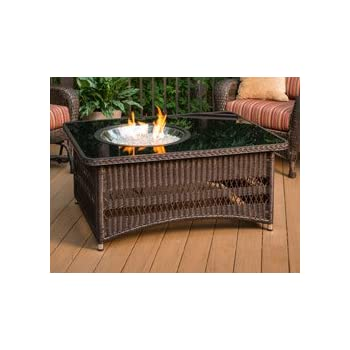 Amazoncom Outdoor Great Room Montego Crystal Fire Pit Coffee