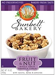 Sunbelt Fruit & Nut Granola Cereal, with Raisins, Dates, & Almonds, 16 Oz. (2 Pack)
