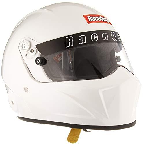 RaceQuip 283113 Gloss White Medium VESTA15 Full Face Helmet (Snell SA-2015 Rated)