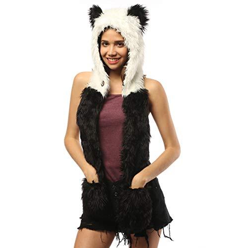 Panda Hat Novelty Ears Festival Animal Hood Faux