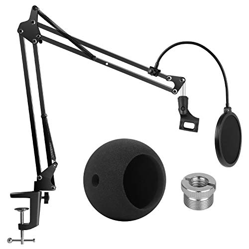 InnoGear Adjustable Mic Stand for Blue Snowball and Blue Snowball