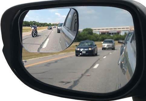 Utopicar Blind Spot Mirrors, Blind Side Car Mirror/Door Mirrors for Traffic Safety with Lip Awning to Keep It From Rain, Pack of 2 (Stick)