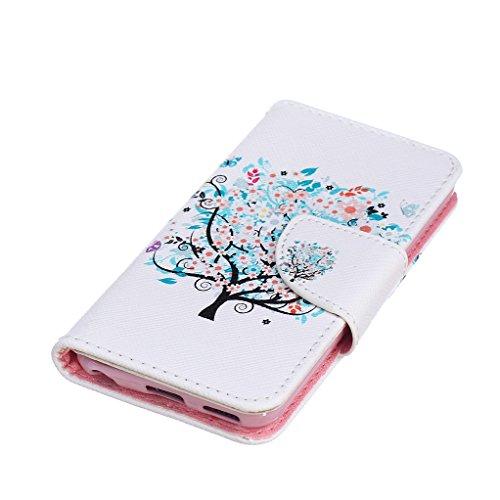 Trumpshop Carcasa Funda Protección para Apple iPod Touch 5 (5th Gen) / Touch 6 (6th Gen) + árbol de la vida + PU Cuero Caja Protector Billetera con Cierre magnético Choque Absorción árbol de la vida