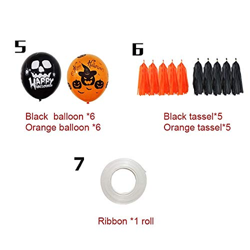 Ballons Accessories - Halloween Balloons Set Happy Hanging Decoration Spooky Bat Tassel Party Decors - Party Balloon Balloon Mr Globe Birthday Balloon I Balloon 22 Giant Latex Classic Party B