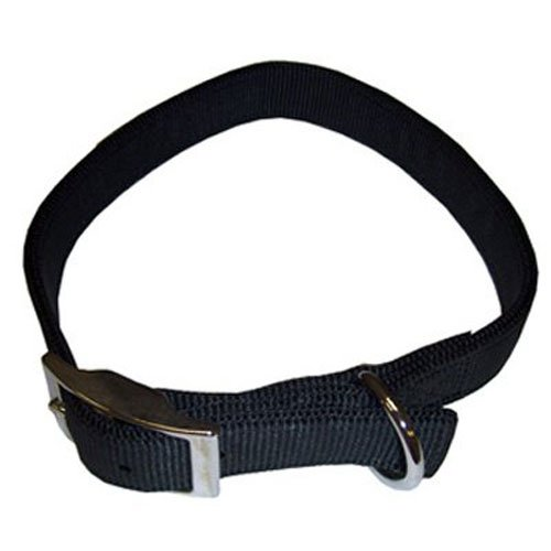 Coastal Pet 02901 B BLK22 Double Ply Collar, 1 by 22-Inch, Black
