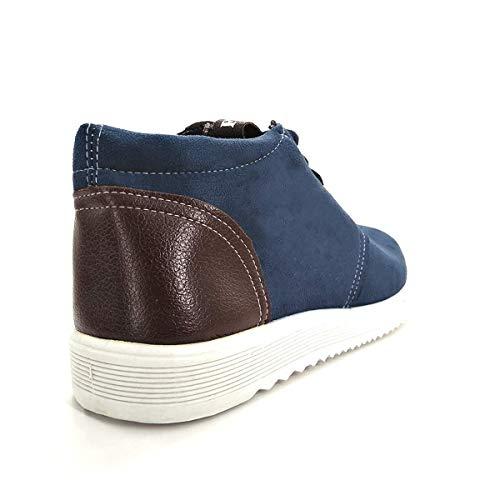 hombre Zapatos todo ocio para transpirables para de Oscuro el Azul zapatos modernos planos año tpxprqywfa