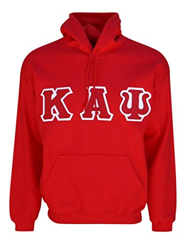 (Mega_Greek Mens Kappa Alpha Psi Hooded Sweatshirt Large Red)