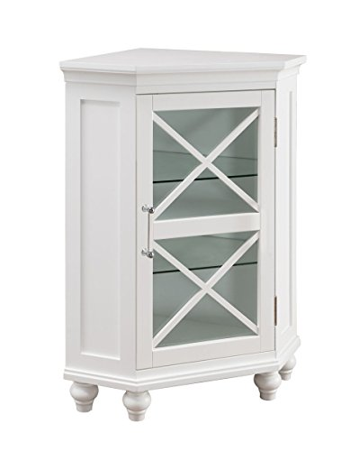 Furniture Ridge Blue (Elegant Home Fashions Blue Ridge Corner Floor Cabinet in White)